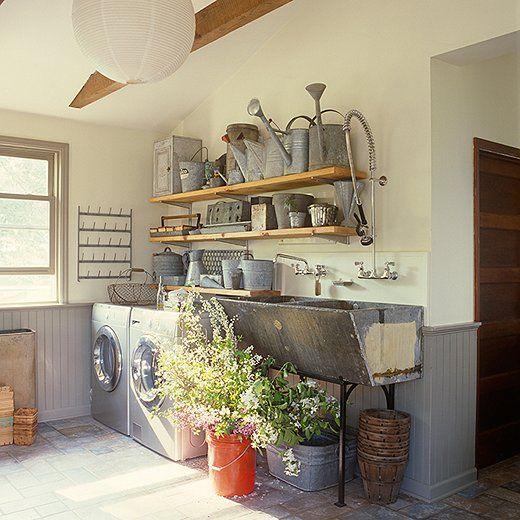 7 ideas para decorar e integrar tu cuarto de lavado for Lavaderos rusticos de casas