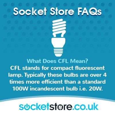 Marvelous What Does #CFL Mean? CFL Stands For Compact #fluorescent #lamp. Typically  These Bulbs Are Over 4 Times More #efficient Than A Standard 100W  #incandescent ...