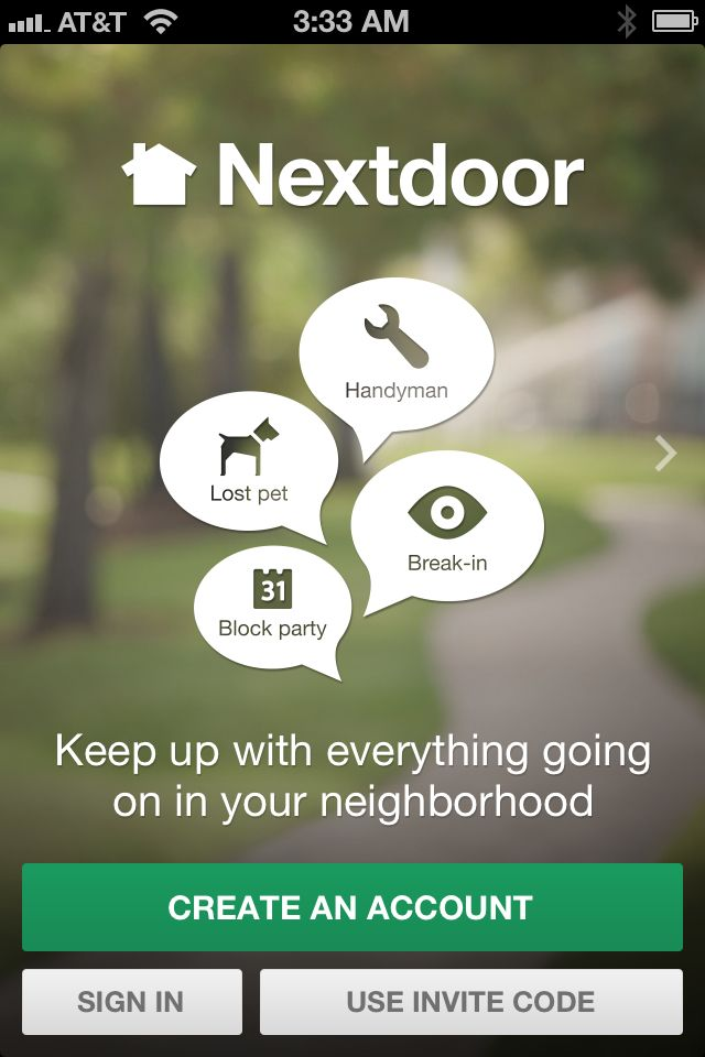 Nextdoor allows you to see what's happening in your