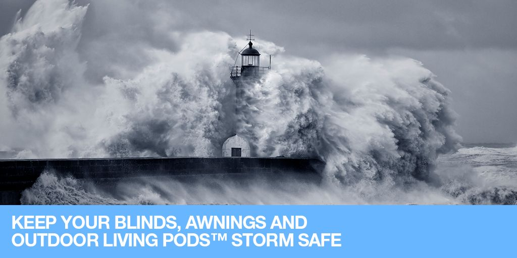 There have been reports that the UK could be hit with another potential storm, so stay safe, keep an eye on the weather and take precautions. Here are some quick tips for our clients to keep their External Shading Solutions out of harms way.  #WeatherWarning #StormDennis #Storm #Blinds #Awnings #Pergolas #Warning