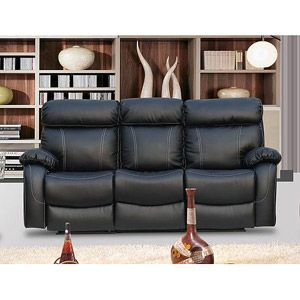 Primo International Chateau Bonded Leather Double Reclining Sofa, Black At  Walmart