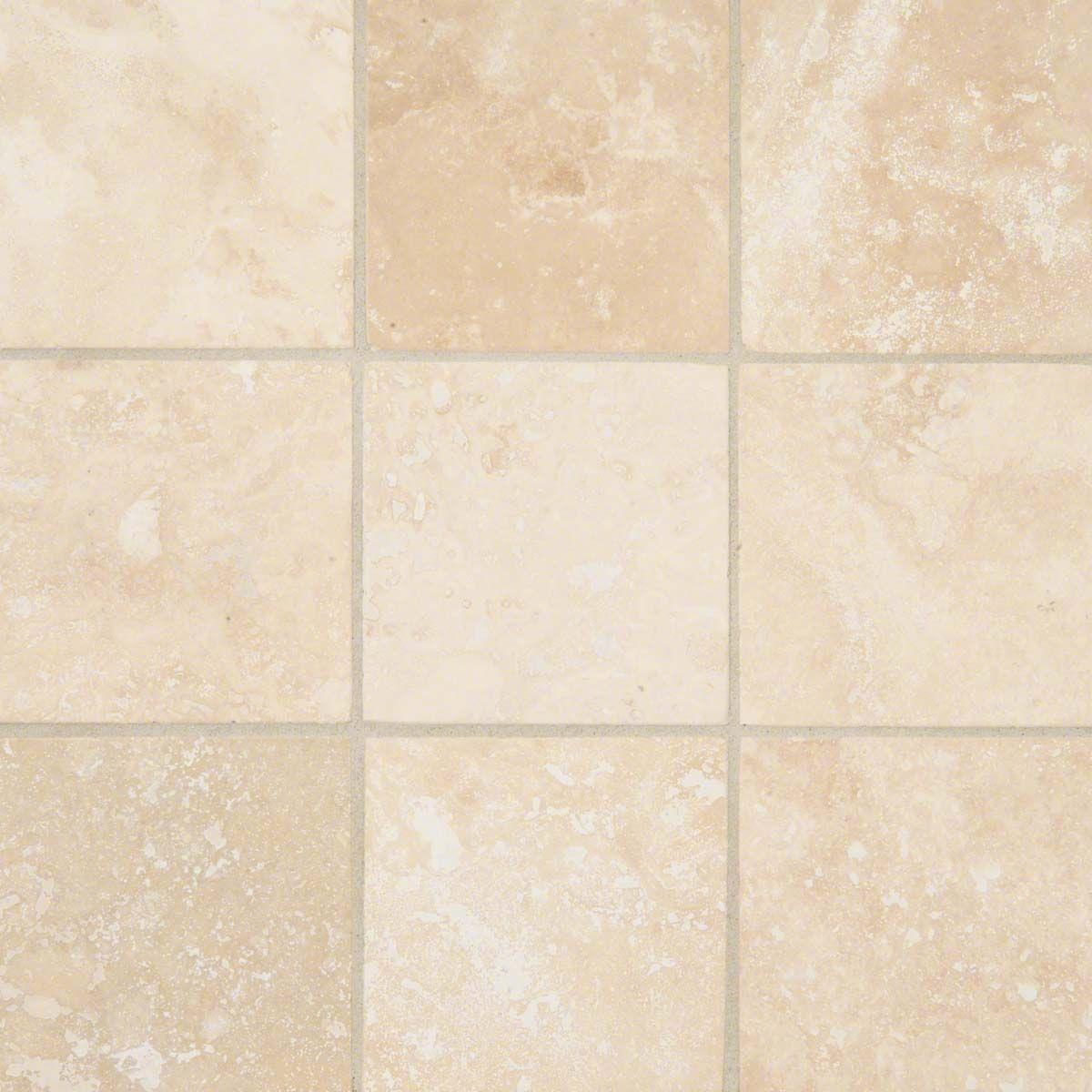 Ivory Travertine 4x4 Honed And Beveled Tile Travertine Backsplash ...
