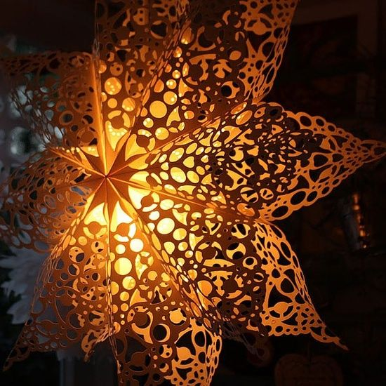 Lace Doily Paper Star Lantern Diy Pinterest Paper Star