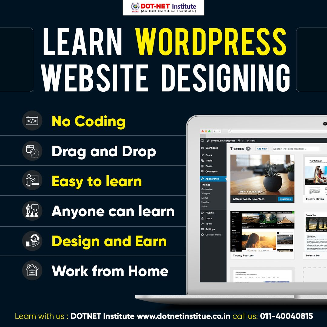 Professional Diploma In Web Designing Pdwd Web Design Course Web Design Learn Wordpress
