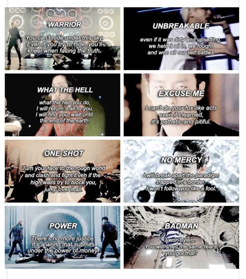 B.A.P. unforgettable lyrics.