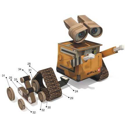 WALL-E Paper Model  #wall-e