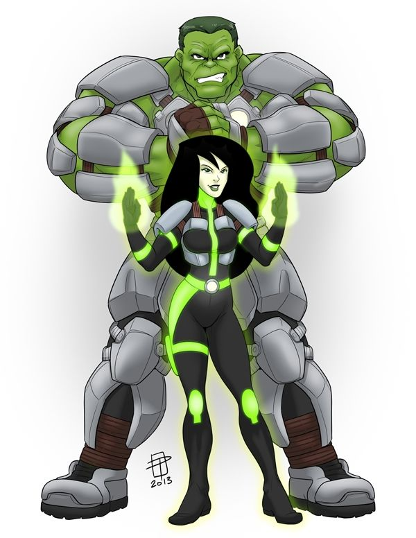#Hulk #Animated #Fan #Art. (Hulk and Shego- Battle Ready) By: CallMePo. ÅWESOMENESS!!!™ ÅÅÅ+