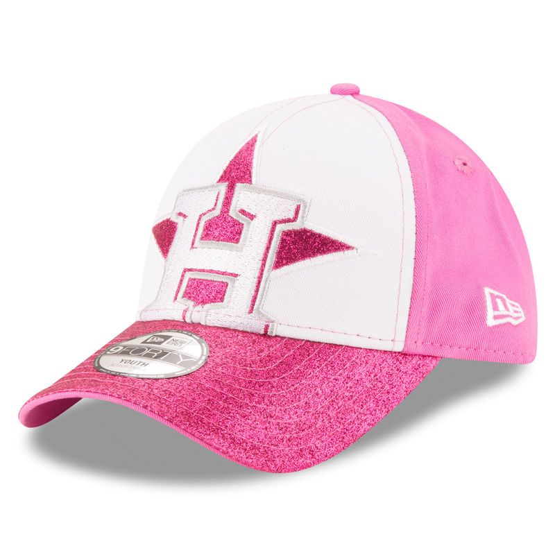 the best attitude 4f316 ffce9 Houston Astros New Era Girls Youth Shimmer Shine 9FORTY Adjustable Hat -  White Pink