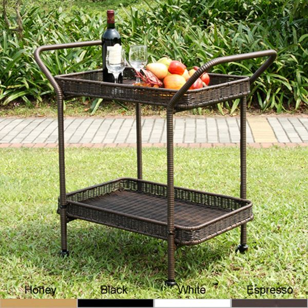 Captivating Wicker Patio Serving Cart   Overstock™ Shopping   Big Discounts On Jeco  Coffee U0026 Side