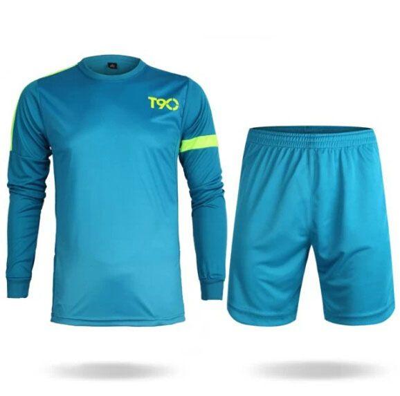 0db3ea527 Soccer Jerseys Cheap-T90 Light Blue LS Training Blank Uniform ...