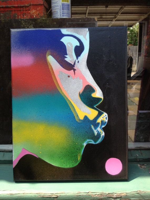 Pop Art Painting Of African Womanthe Kiss By Abstractgraffitishop