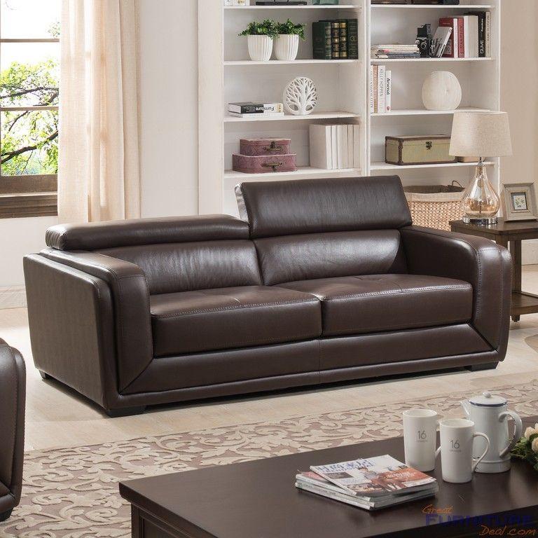 Superbe AC Pacific Furniture   Calvin Leather Sofa   AC 1715