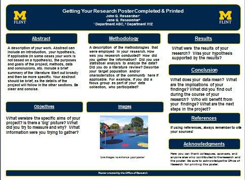Research Poster Template Poster Printing University Of