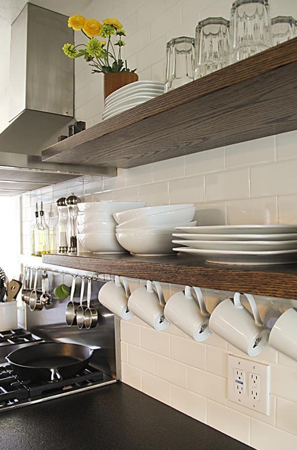 Dekoratif Mutfak Rafları Ile Mutfaklar Dekorasyona Doyuyor