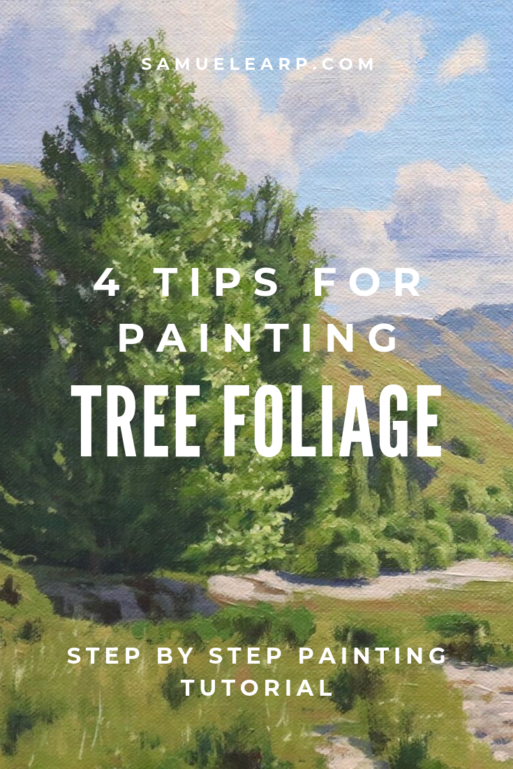 In this painting tutorial I am going to share some tips for painting beautiful trees. I also show you a step by step painting tutorial on how to paint a landscape that features lots of broadleaf trees. #oilpainting #howtopaint #paintingtrees #fineart #art #trees