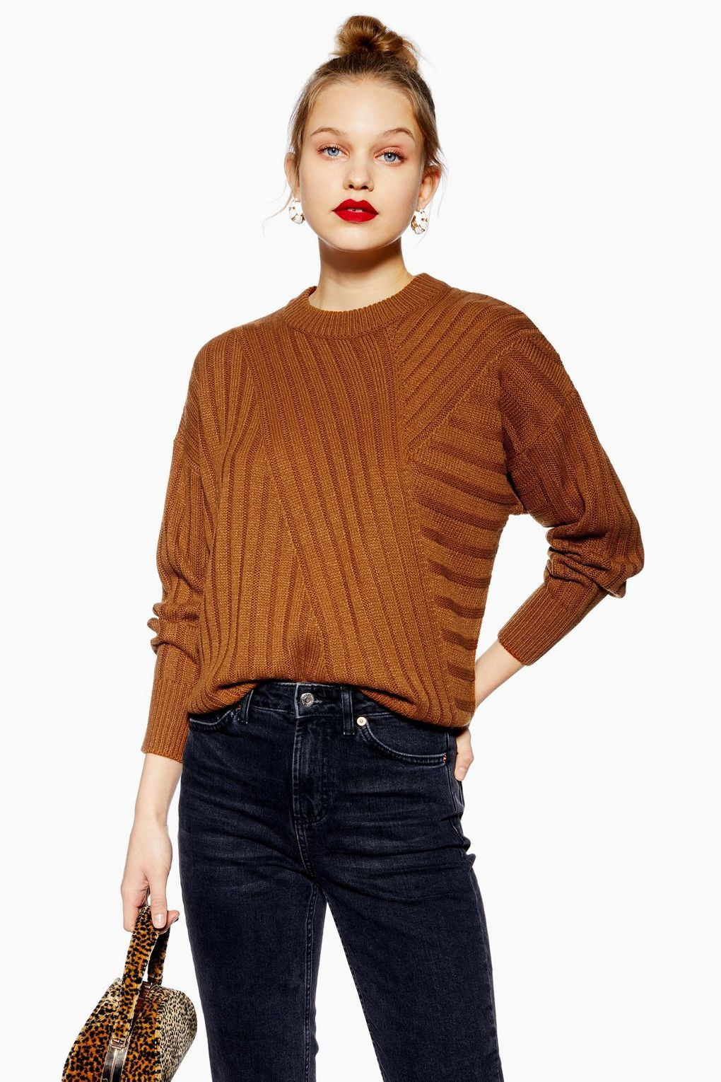 26315445e9 Directional Ribbed Jumper - Sweaters   Knits - Clothing - Topshop USA