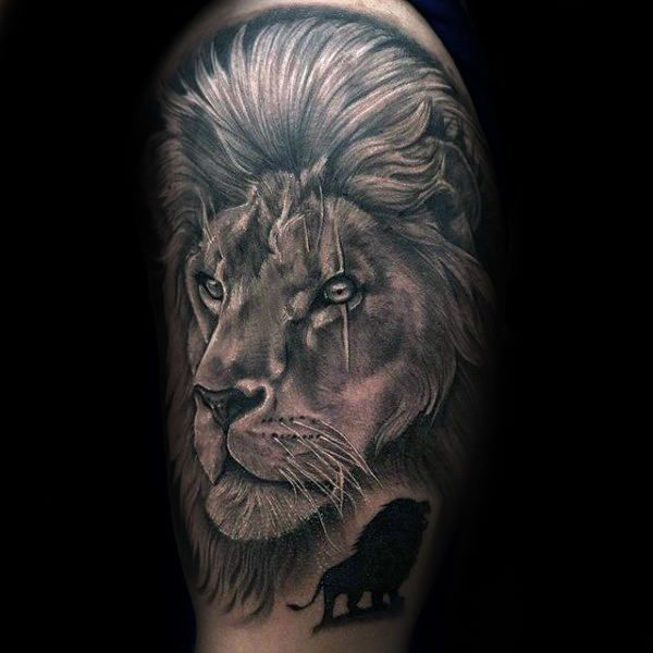 Pin On Loion Tattoo For Men