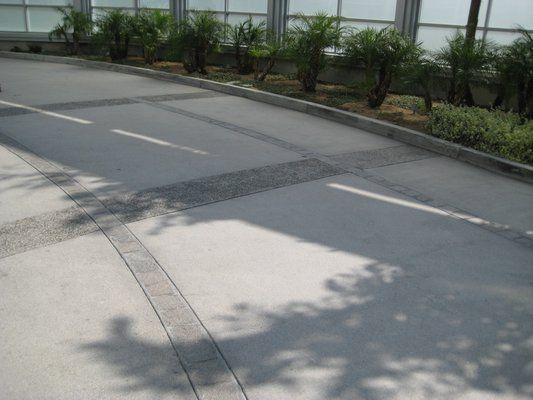 paver bands in concrete | finish concrete driveway with