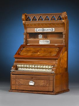 This Incredibly Rare 19th Century Wooden Cash Register Is One Of