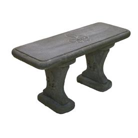 35 In W X 17 In L Flint Concrete Bench Lowes Com Concrete Bench Patio Bench Concrete Patio