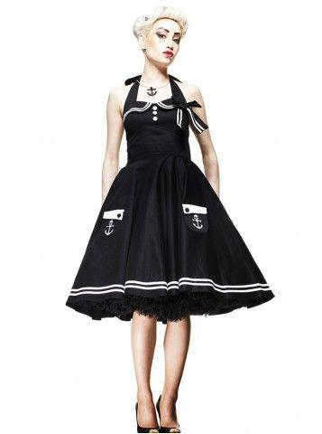 Motley 50's [black] Dress - Hell Bunny