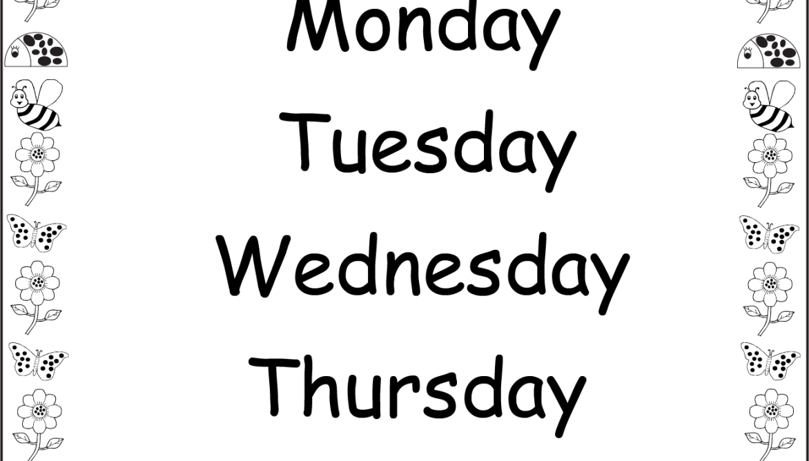 Days of the Week – Yesterday and Tomorrow