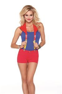 Pow! Hero Suspenders with Cape - 360190 | trendyhalloween.com #halloweenaccessories
