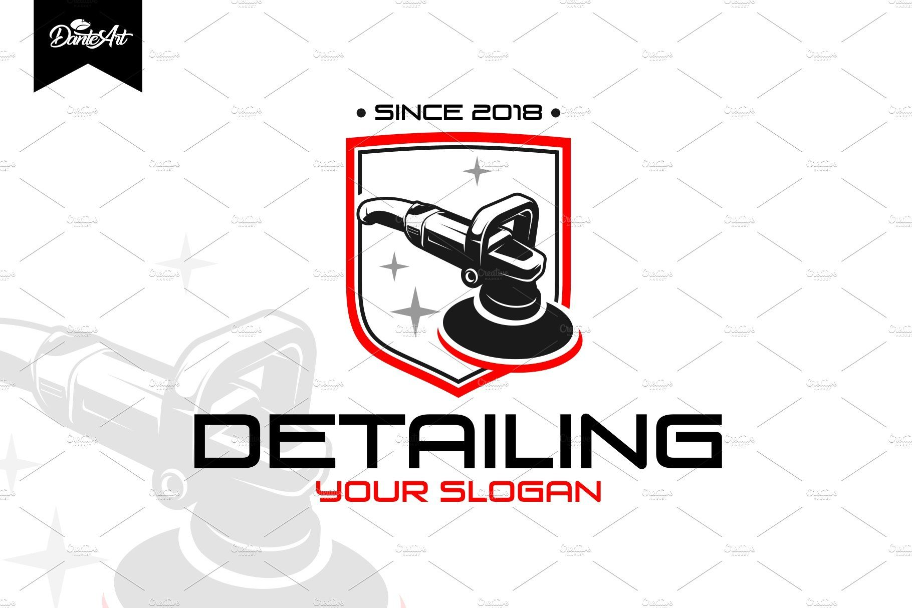 Detailing Car Logo Car Detailing Car Logo Design Automotive Logo Design [ 1214 x 1820 Pixel ]