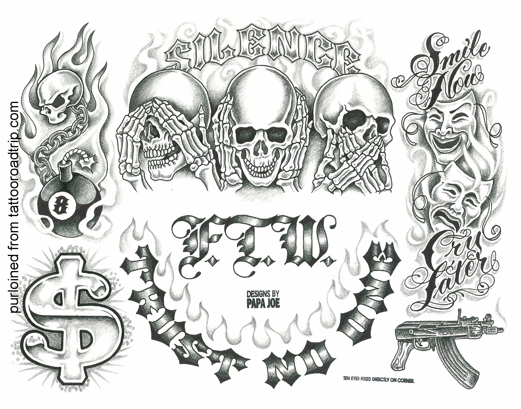 Posts From June 2010 On Baxter S Blog Tattoo Design Drawings Chicano Tattoos Tattoo Lettering Fonts