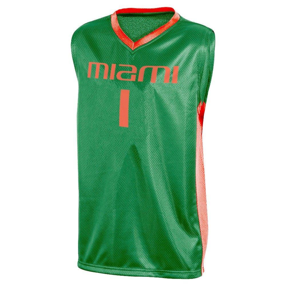 657cb18b800e NCAA Miami Hurricanes Boys  V-Neck Replica Basketball Jersey - XS ...