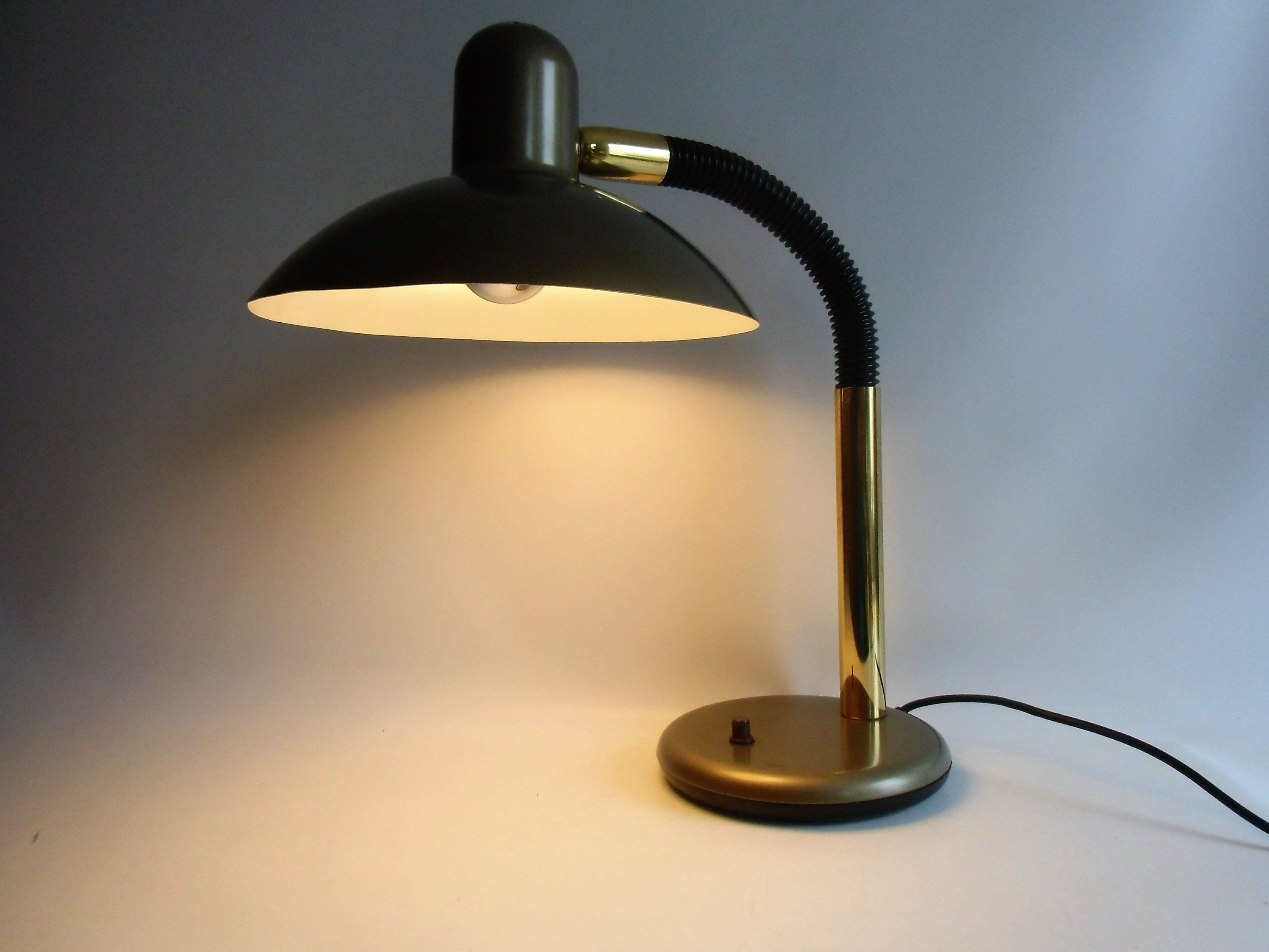 Swan Lamp Classic From 80s The Neck Design Desk Vintage Sis Metal YbeWEIDH29