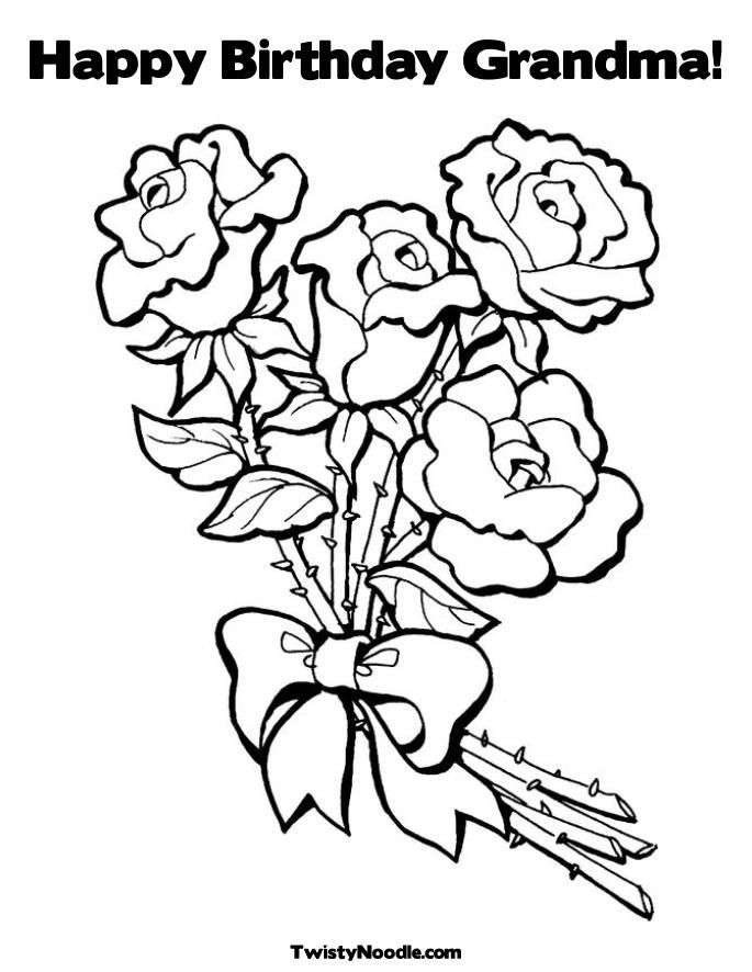 birthday grandmother coloring pages - photo#6