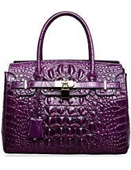 eedf659428ca PIJUSHI Women s Handbags Crocodile Top Handle Satchel Bags Designer Padlock  Handbags For Women P10103  women