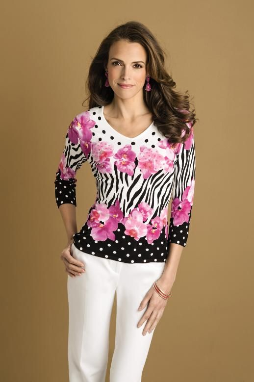 054f32a3db1 Exclusively ours Peck & Peck dot amour v-neck blouse. #SteinMart ...