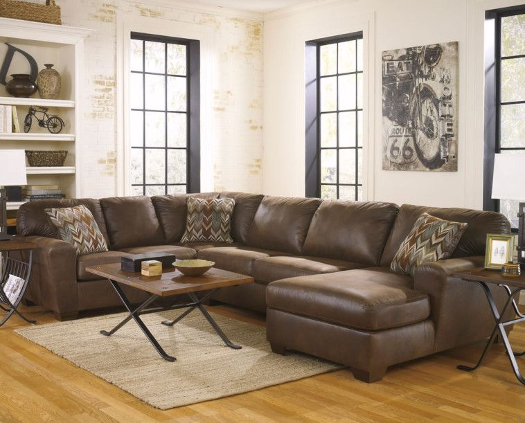 Exceptionnel Faux Brown Leather Modular Couch With Rectangle Wooden Top Coffee Table As  Well As Modular Sectional Sofa Plus Sectional Recliner Sofas