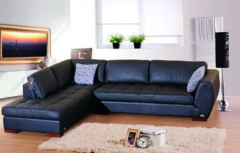 Best Blue Leather Sectional Sofa Royal Home Design Ideas