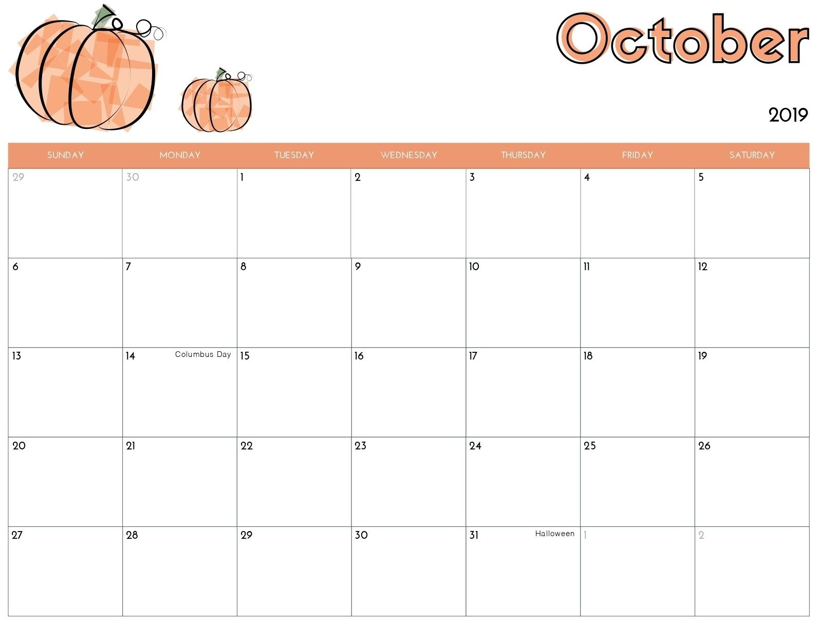 Online Calendar For October 2019 Template Magic Calendar 2019