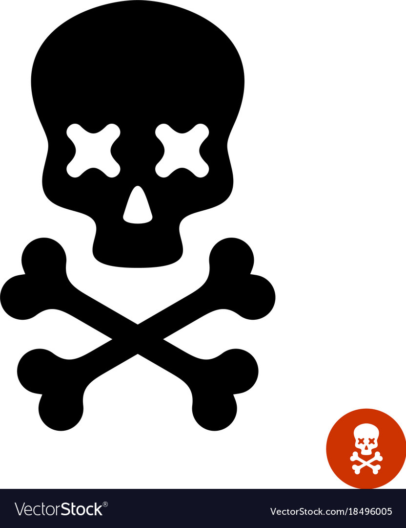 Scull And Crossbones Logo With X Eyes Royalty Free Vector Skull Logo Vector Free Crossbones