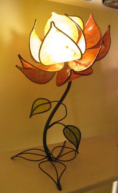 Meta Data Lotus Flower Table Lamp Height 40 Cm Diameter 25 Cm Flower Base Diameter Of 20 Cm Table Lamp Flower Lamp Colorful Lamp Shades