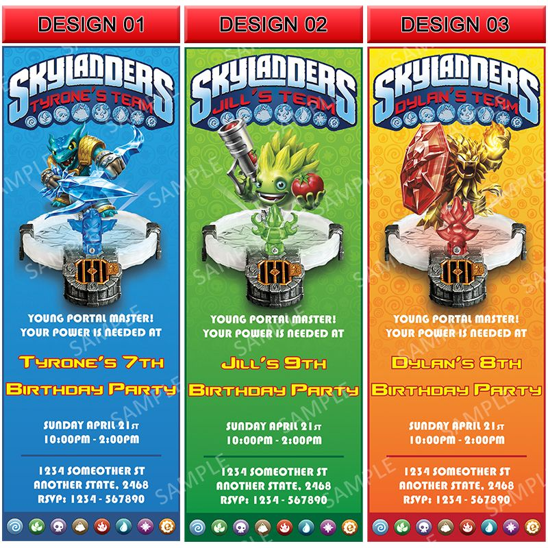 Skyventure Skylanders Trap Team Invitation Printable