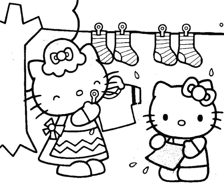 Hello Kitty With I Love You Heart Coloring Page From Hello Kitty Category Sele Hello Kitty Colouring Pages Valentines Day Coloring Page Hello Kitty Coloring