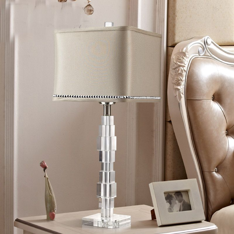 E27 Powerbank Table Light Crystal Led Desk Lamp Office Lamparas