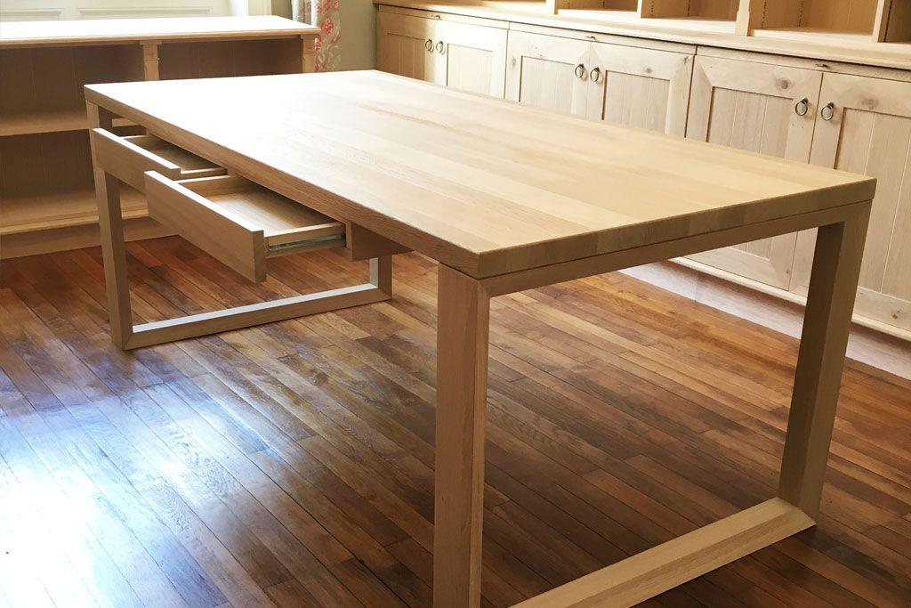 bureau en bois fabriqu sur mesure par jean gilles client de la boutique du bois partir d 39 un