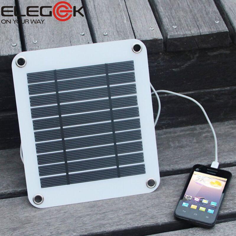 ELEGEEK 5 Вт 5 В Портативный Панели Солнечных Батарей Зарядное ...