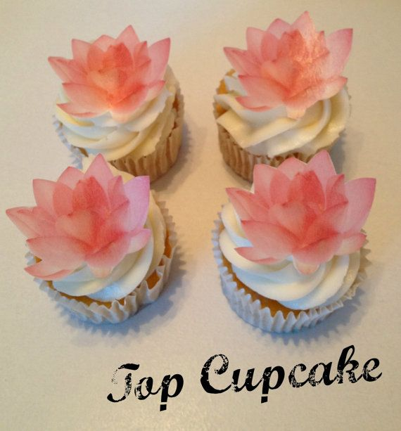 Love These Edible Lotus Flower Cupcake Toppers By Topcupcake On