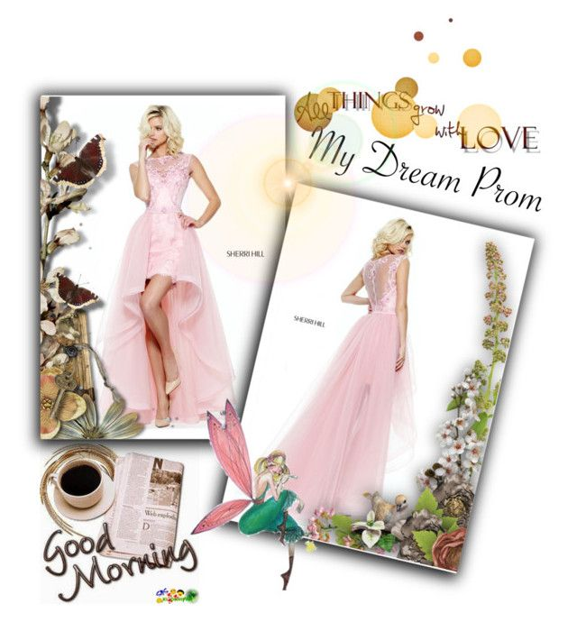 """""""50921 prom dress 2017"""" by jodikennedyservice ❤ liked on Polyvore featuring Sherri Hill, Prom, Pink, dress and 2017"""