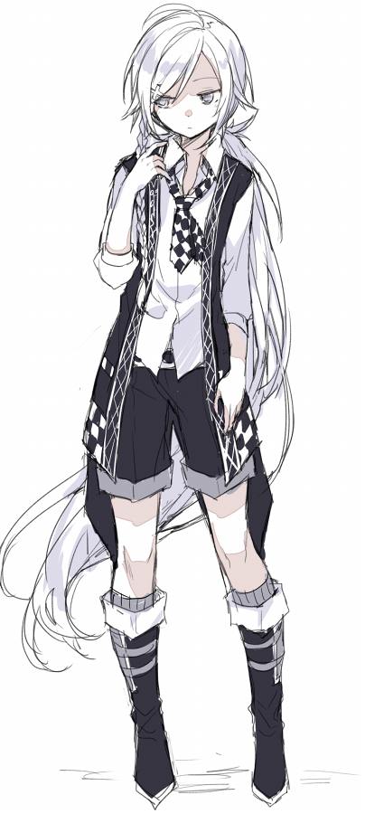 Anime Picture Search Engine 1boy Ahoge Boots Checkered Expressionless Hijiri Resetter Long Hair L Anime Boy Long Hair Anime Long Hair White Hair Anime Guy
