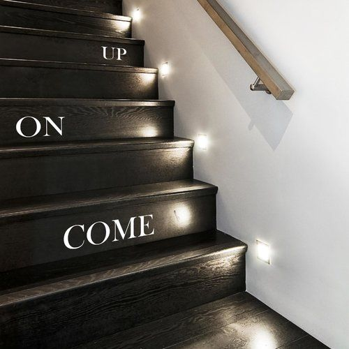 Wandsticker Come on Up Stair East Urban Home Farbe: Rot