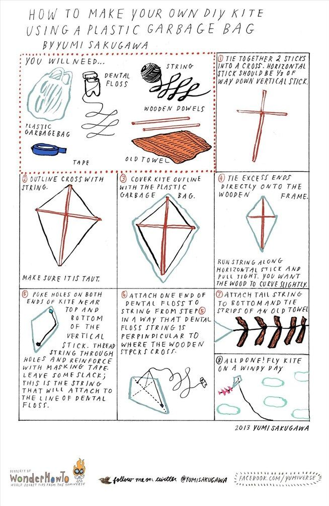 Diy Kite Designs How To Make A Kite  Kites Electrical Tape And