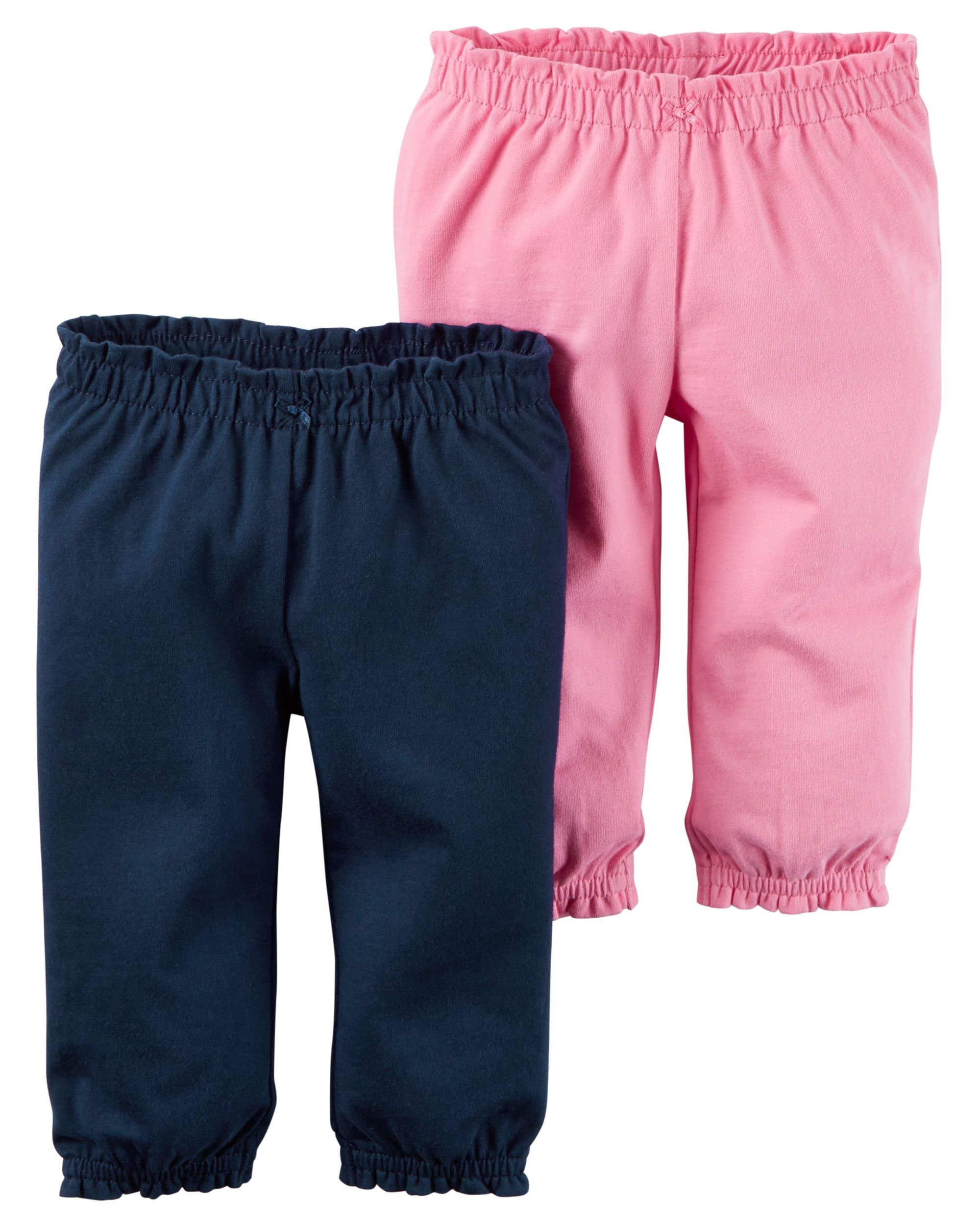 473e1d003 Baby Girl 2-Pack Babysoft Pants from Carters.com. Shop clothing &  accessories from a trusted name in kids, toddlers, and baby clothes.